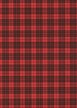 """""""Tartan"""" noir et rouge (50x70)"""