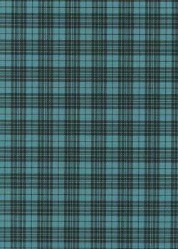 """""""Tartan"""" noir et bleu canard (50x70)"""