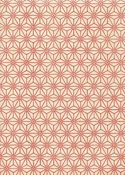 Lokta étoiles rouges fond ivoire (50x75)