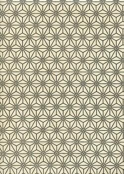 Lokta étoiles noires fond ivoire (50x75)