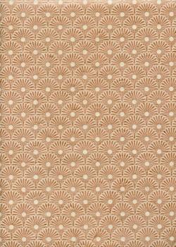 Lokta Kahori cuivre fond ivoire (50x75)