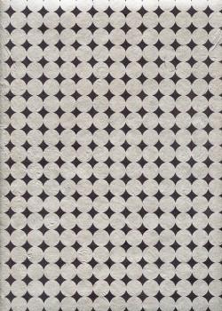 Lokta Rondanlo argent fond gris anthracite (50x75)