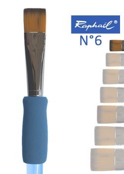 Pinceau à colle plat en nylon Raphael manche ergonomique très souple N°6