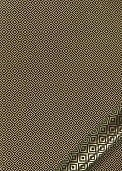 Carrés or vif fond noir (50x70)