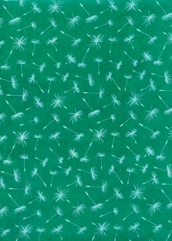 Lokta soufflet de pissenlit fond vert (50x75)