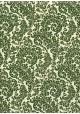 Feuillage vert fond ivoire réhaussé or (70x100)