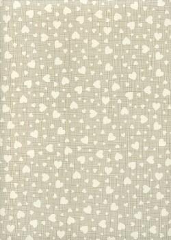 Papier envol de coeurs fond toilé gris (70x100)