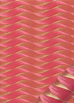 """""""Dune"""" framboise et or (50x70)"""
