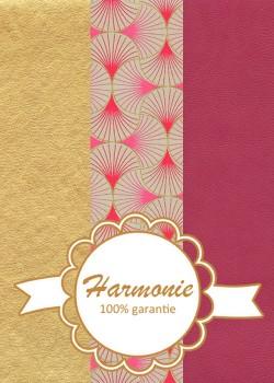HARMONIE TRIO Coquilles framboise et or