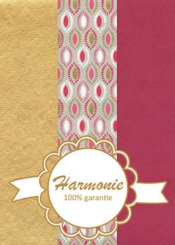 HARMONIE TRIO Goutes framboise blanc et or