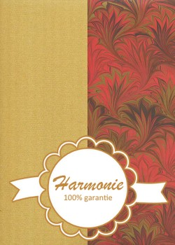 HARMONIE DUO Marbré rouge et or