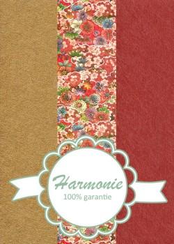 HARMONIE TRIO Kyo-koromo ambiance rouge et or