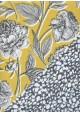 """Recto verso """"Fleurs fond jaune / motif gris et blanc"""" (68x98)"""