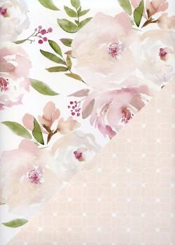 """Recto verso """"Floral pastel / géométrique pastel"""" (68x98)"""
