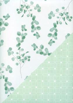 """Recto verso """"Branches ton pastel / géométrique pastel"""" (68x98)"""