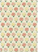 Papier lokta les petits arbres colorés fond naturel (50x75)