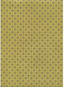Lokta mini fleurs mauve fond vert (50x75)
