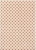 Lokta mini fleurs rouges fond naturel (50x75)
