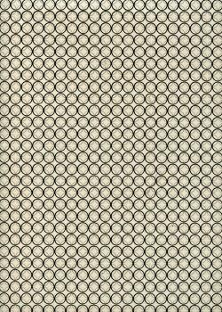 Papier lokta les cercles noirs et gris fond ivoire (51x77)