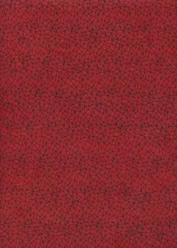 Papier lokta grille noire fond rouge (51x77)