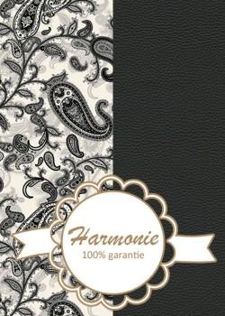 HARMONIE DUO Cachemire noir & blanc