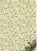 Tapis de fleurs ambiance kaki réhaussé or (70x100)
