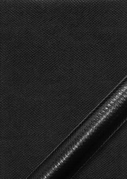 """Simili cuir métal """"Vipère"""" noir"""