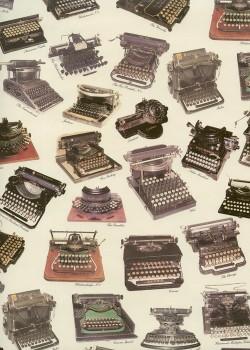 Les machines à écrire anciennes (70x100)