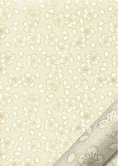 Hanami ivoire et or (50x70)