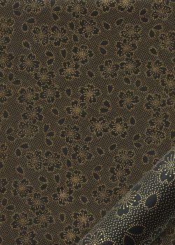 Hanami noir et or (50x70)
