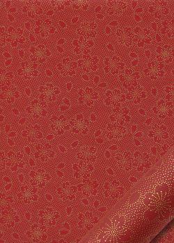 Hanami rouge et or (50x70)