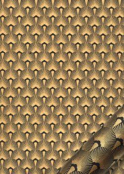 Mazurka noir et or (50x70)