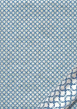 Isis bleu et argent (50x70)