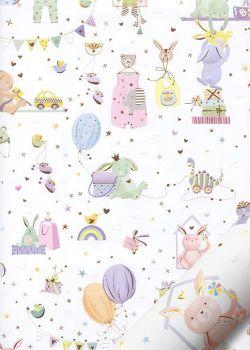 Papier Turnowsky la baby shower réhaussé or (50x70)