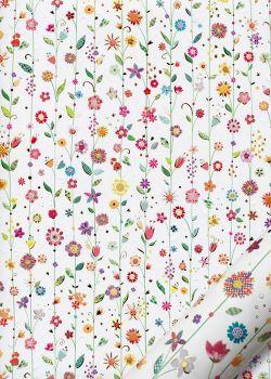 Papier Turnowsky lianes de fleurs réhaussé or (50x70)