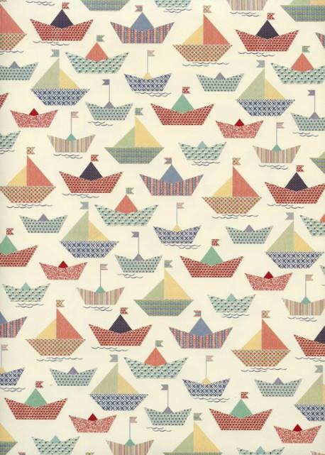 Les petits bateaux en origami (70x100)