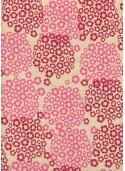 Papier lokta hortensia ambiance rose (50x75)
