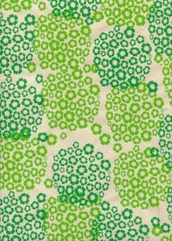 Papier lokta hortensia ambiance verte (50x75)