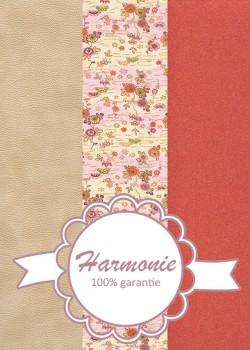 HARMONIE TRIO Japonais ambiance rose, rouge et sable