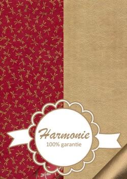 HARMONIE DUO Libellules or fond rouge