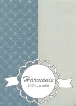 HARMONIE DUO Impression pendulaire argent fond bleu gris