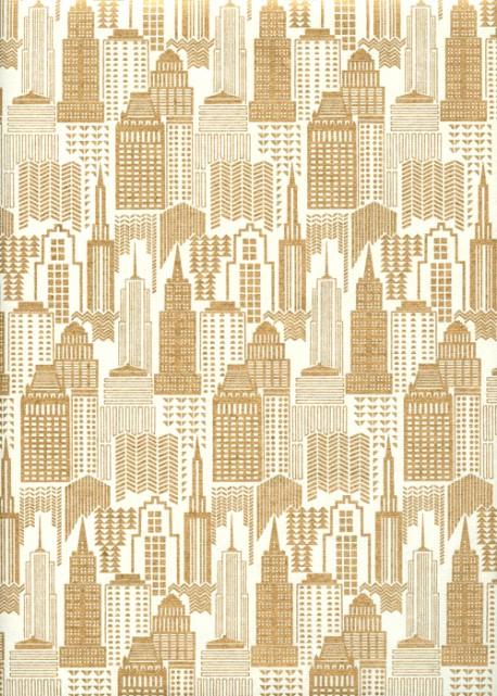 """Building"" or fond ivoire (50x70)"