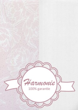 HARMONIE DUO Floral blanc fond rose pastel