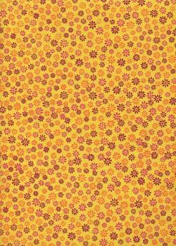 Papier lokta les pâquerettes fond jaune (50x75)