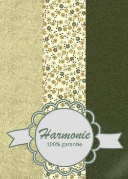 HARMONIE TRIO Tapis de fleurs ambiance kaki et or