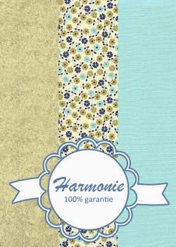 HARMONIE TRIO Tapis de fleurs ambiance bleu et or