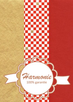 HARMONIE TRIO Damier rouge blanc et or