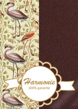 HARMONIE DUO Les flamants roses fond ivoire réhaussé or