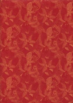 """Jungle"" fond rouge (50x70)"