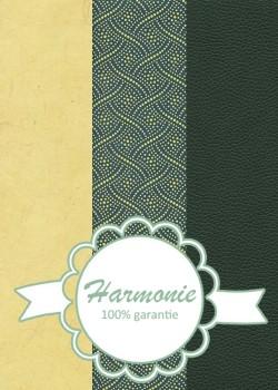 HARMONIE TRIO Tressage jaune fond bleu canard